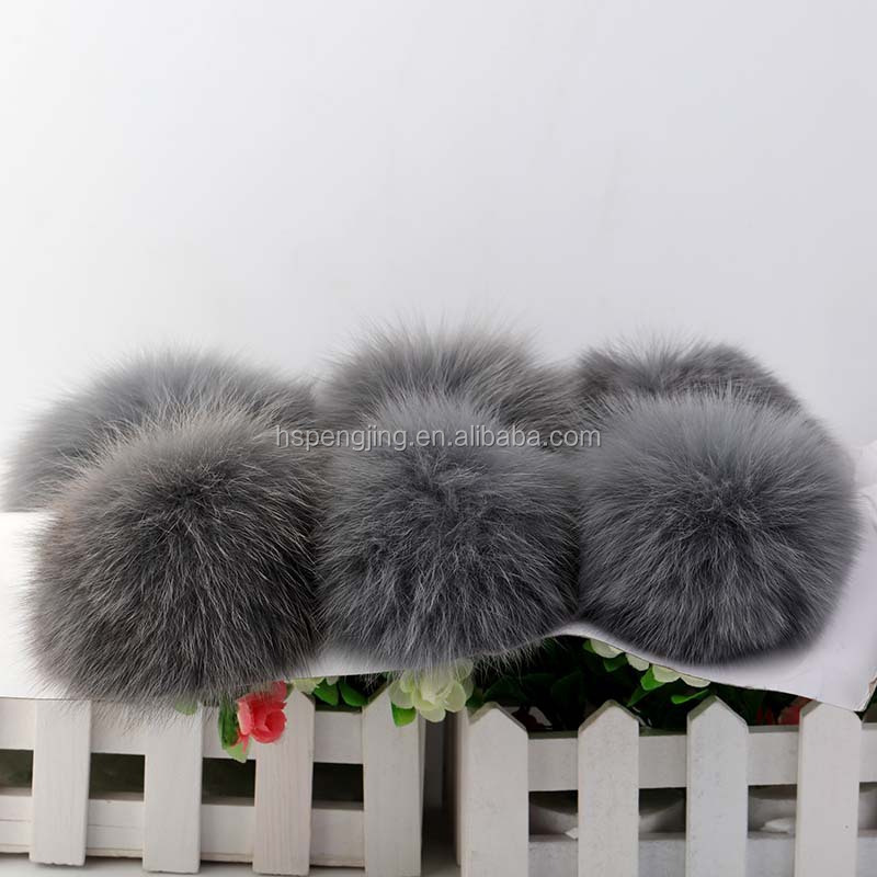 Colorful racoon dog fur pompoms/fox fur/rabbit fur Balls to with hat/cap10-15cm--YX48