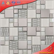 Free mosaic glass tile pattern and rubberizing kitchen tile glass eel(HK01)