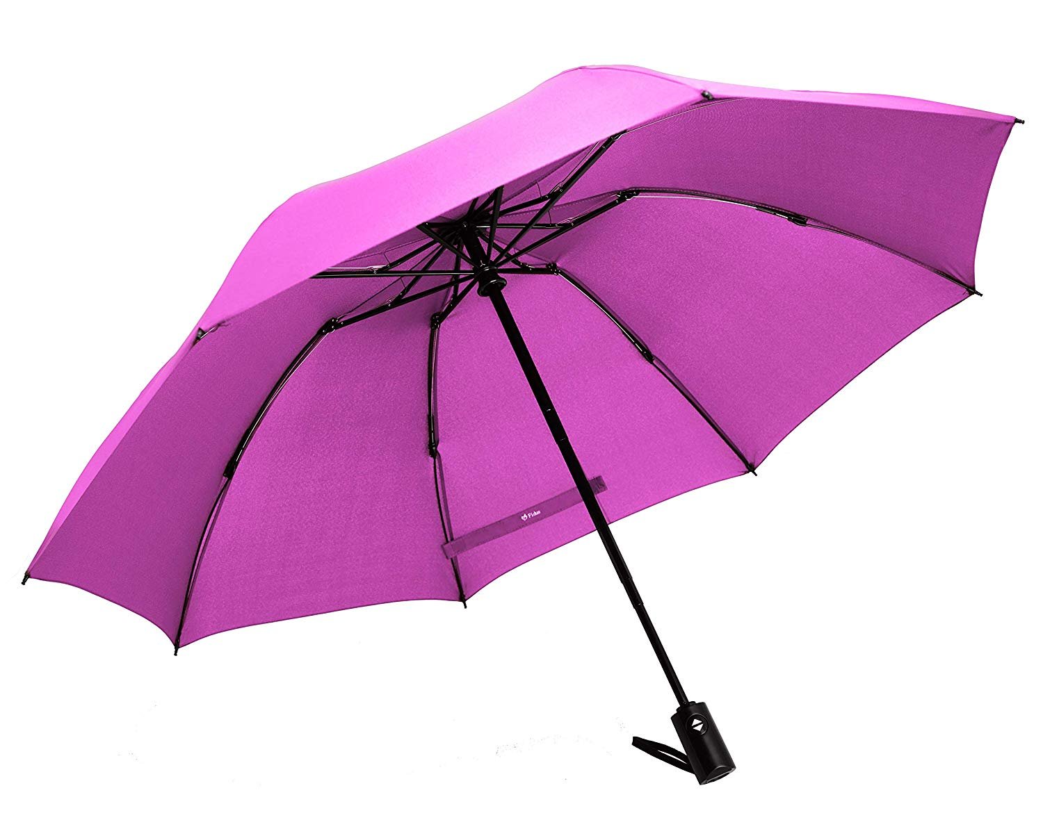 High Quality Plain coloured Reverse 3 Folding Print Inside Windproof Auto Open Close Car Umbrella with Logo print