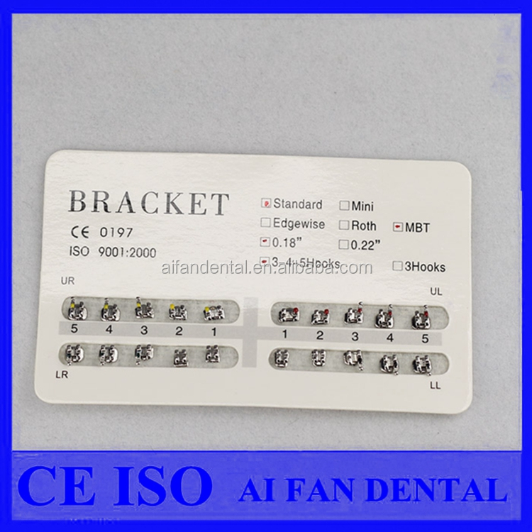AiFan Dental Standard Edgewise Brackets Dental Ortodoncia