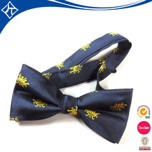 wholesale Custom cheap silk mini embroidery bow tie for man