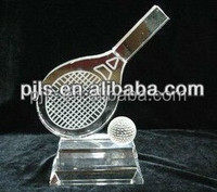 table tennis glass crystal trophies & awards