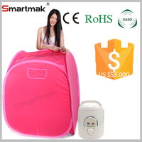 Smartmak Hot Sale Cheapest Sauna Room Portable Home Steam Sauna Portable Sauna Machine For Health