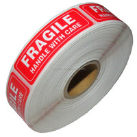 1x3 x1000pcs red self adhesive fragile label sticker manufacturer for warning
