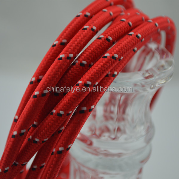 Cloth Covered Wire - Flat Parallel Lamp Cord/Vintage Style Fabric Wire -Red
