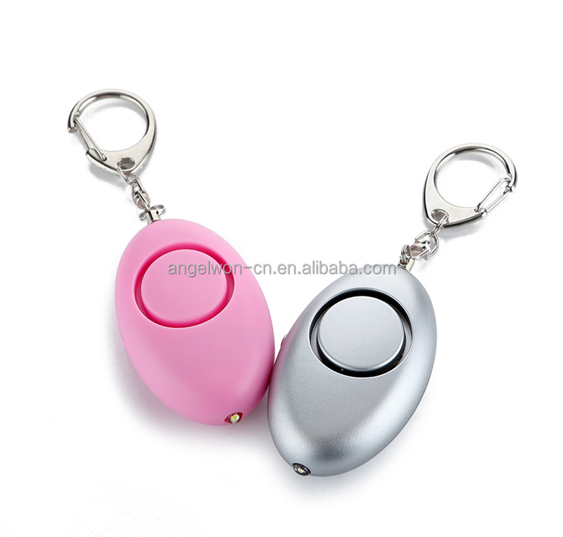 120db Ellipse shape personal safety alarm self defense panic alarm with LED light