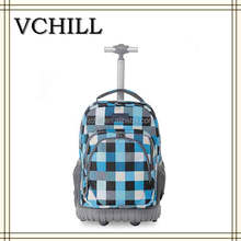 Pattern Printed Trolley Rolling Backpack For teenager Girls