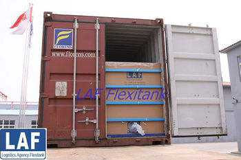 sorbitol flexibag in shipping container