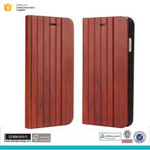 Real natural wood flip case cover for iphone 7