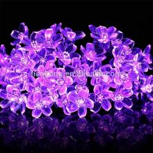 Beautiful Japanese Cherry lamp string Christmas garden decorations wedding lamps solar energy led light string