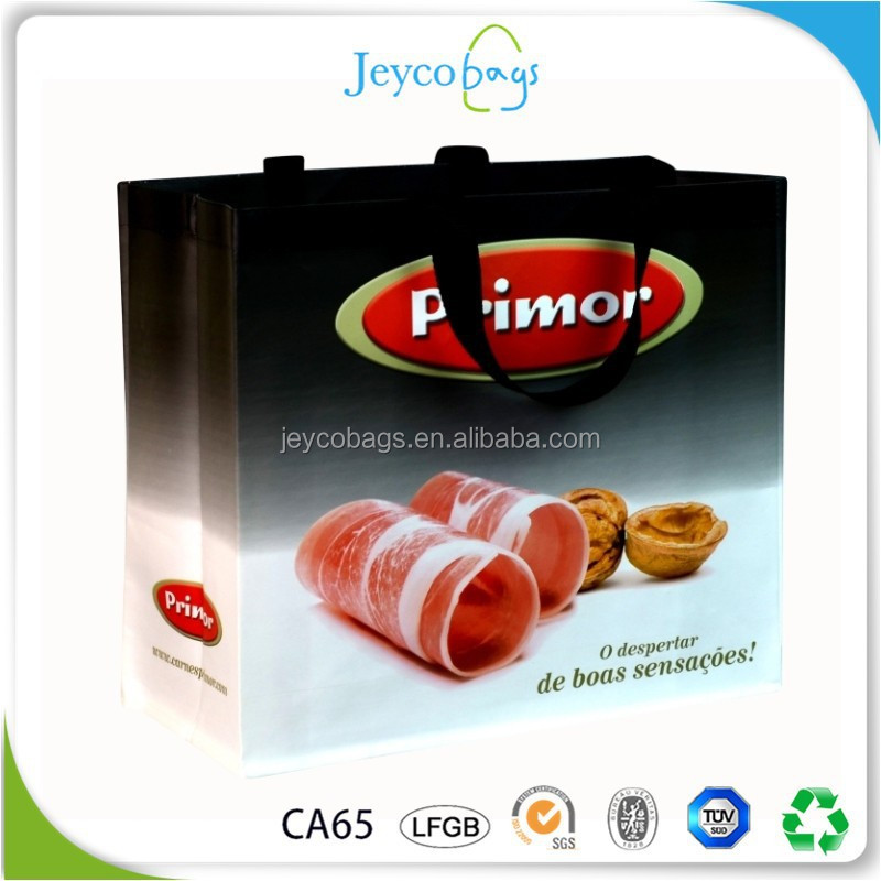 JEYCO BAGS 2017 new recyclable pp lamination non woven eco shopping bag with SGS test