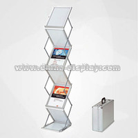 Acrylic panel A3 A4 ZigZag literature rack flyers holder