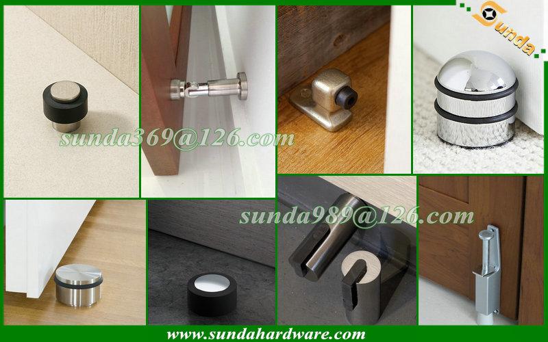 Aluminum door stopper with satin nickel finish buy black
