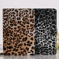 Fashion book style leopard case for ipad mini,hot selling purse cover for ipad mini with stand function,stylish case for mini