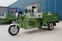 Hot 60V 1000W cargo tricycle electric and gasoline hybrid cargo tricycle green color