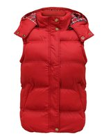 women custom cotton flannel lining padded gilet