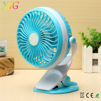 New fashionable battery portable rechargeable mini clip fan for ourdoor and car