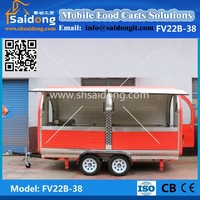 High Quality Crepe Selling juice carts/concession van food outdoor/hot dog kiosk dinner