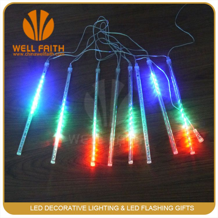 Shower slip lights F5 LED water lamp 20 cm long hollow tube