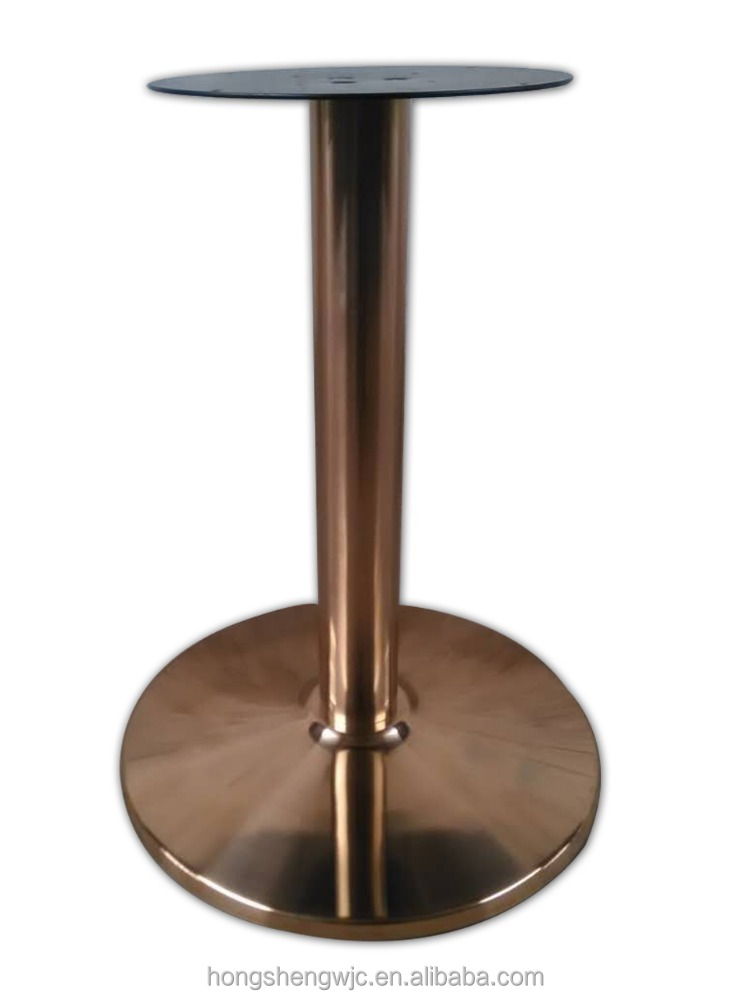 New products Release Rose Gold round table base chrome with round supporter