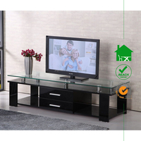 TV-2311 hot design wooden TV stands with glass top