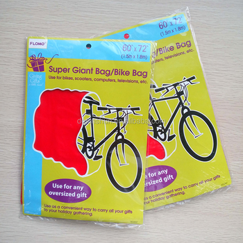 Super giant poly bag Christmas bicycle cover party offer bike bag