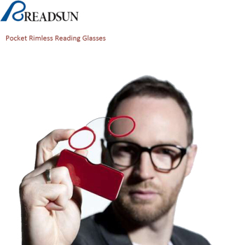 Portable Mini Custom Made Thin Pocket Rimless Folding Reading Glasses