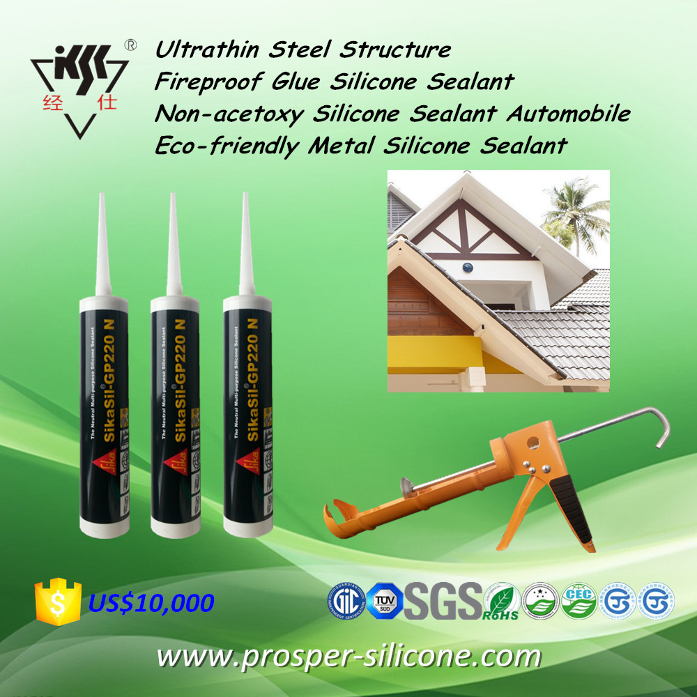 Ultrathin Steel Structure Fireproof Glue Non-acetoxy Automobile Eco-friendly Metal Silicone Sealant