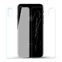 YIPI 0.3MM Screen Protector Shield Guard For iPhone X 2.5D Full Covered Front Back Tempered Glass Screen Protectors