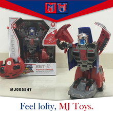 Hot sale make remote control car plastic robot boy toys for children