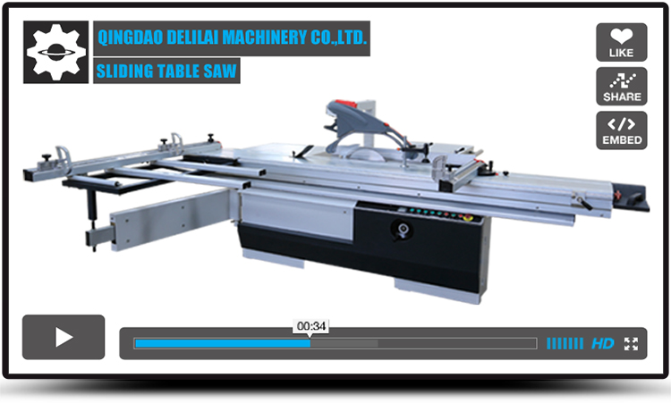 Precision horizontal sliding table panel wood cutting electric saw machine in furniture