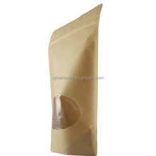custom aluminum foil zipper pouch kraft paper bag for health food