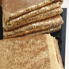3mm Sparkly Gold Sequin mesh fabric Sale By Yard, use for Wedding Dresses/Table Decor
