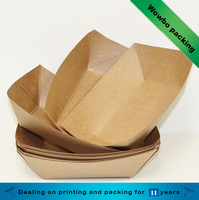 Hot sale disposable custom printed kraft paper food tray