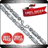 Large Heavy Silver Bead Designs For Mens Silver Necklace Design Chain