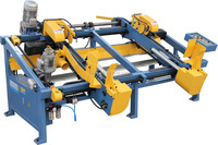 SF602 wood pallet double end trim saw wood pallet cutting machine, wood pallet saw