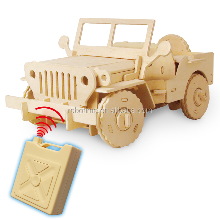 Wooden Educational Mini Jeep For Sale RC Car Toy