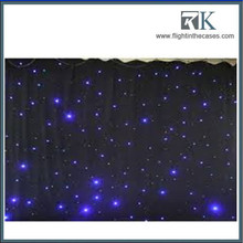 theatre backdrop light fiber optical star cloth/led star curtain