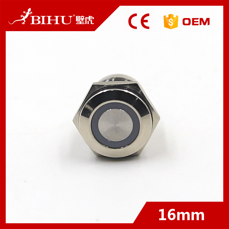 BIHU Customized design anti vandal illuminated industrial push button switches supplier
