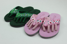 Ladies Slipper Shoes, Webbing five Finger Toe Separator Slipper,Glow Worm printed upper