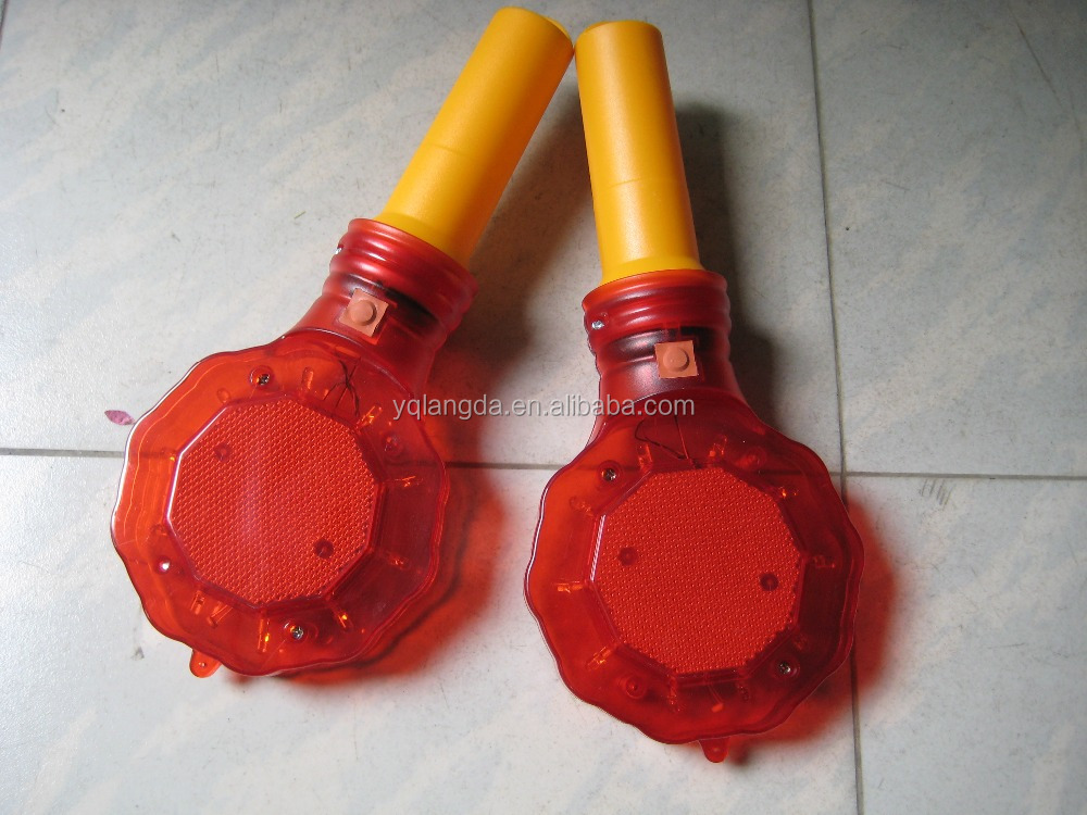 Solar panel charged LED warning lights, flasher, traffic cone warning lamp