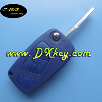 Factory sale 3 button the third button is blank in blue SIP22 blade backside with battery door for fiat 3 button key
