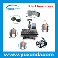 8 in 1 multifunction combo heat press machine/ All in one combo heat pres