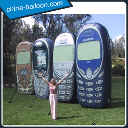PVC giant inflatable cell phone model/advertising mobile ground model for commercial show