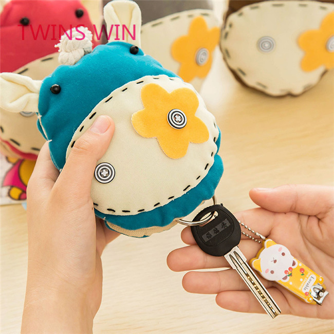 France 2018 hot selling women fashion cartoon cute cotton animal shaped doll keychain <strong>001</strong>