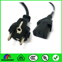 90 degree 180 degree euroupean standard power cord with male female plug