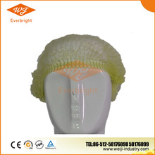 Disposable plastic shower surgical bouffant scrub caps