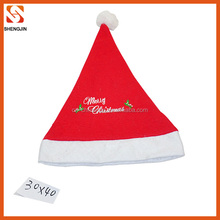 Most popular logo printed christmas hat for promotion