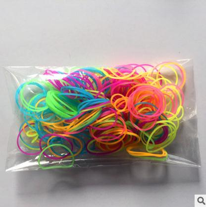 wholesale colorful high elastic silicon small rubber band for hair
