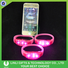 Supply Logo Printed Flashing Silicone Music Activated Led Wristband For Halloween Events